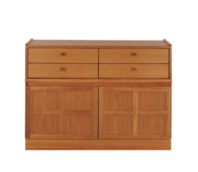 Classic Teak 4 Drawer Mid Storage Unit
