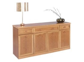 Trafalgar 4 Door, 3 Drawer Canted Sideboard