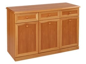 Trafalgar 3 Door, 3 Drawer Canted Sideboard