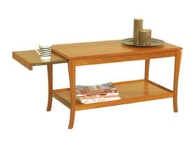 Trafalgar Sofa Table with Pull-out Heat-Resistant Sides