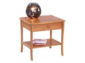 Trafalgar Lamp Table with Drawer and Lower Shelf