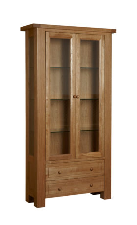 Bretagne 2 Door Display Cabinet with Light