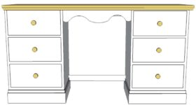 Cornish Double Pedestal Dressing Table