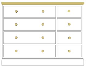 Cornish 8 Drawer Multichest