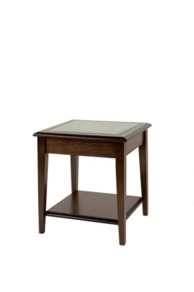 Reproduction Sheraton Glass Top Lamp Table