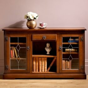 Low Bookcase with glass doors