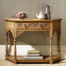 Canted Console Table