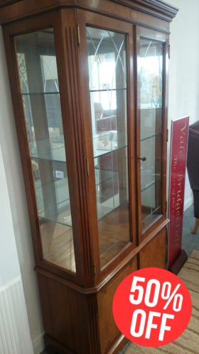 Bowlings Reproduction Canted Glass Display Cabinet
