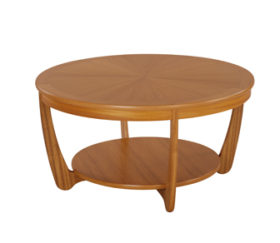 Shades Teak Sunburst Round Coffee Table