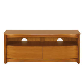 Shades Teak Shaped TV Unit with Drawers