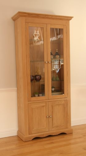 click to view pelham wide glazed bookcase