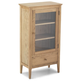 click to view harbour oak glazed bookcase