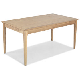click to view harbour oak fixed top dining table