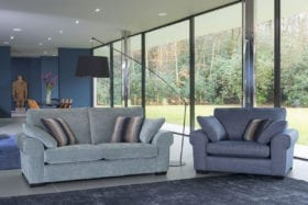 click to view camden sofa and snuggler