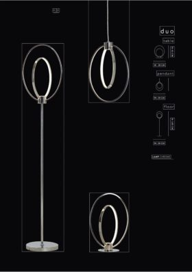 click to view danalight duo led floor and pendant lamps